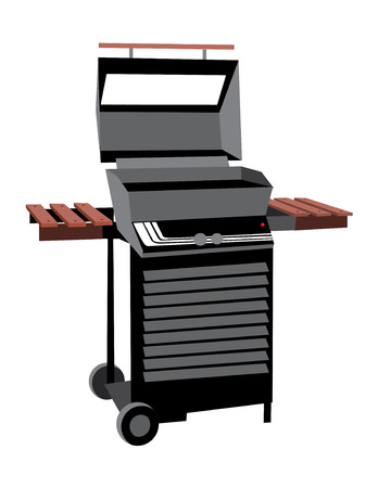 grill: Illustration of BBQ grill vector isolated