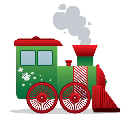 Illustration of chrismas train vector isolated