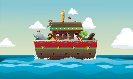 ark: Noah Arc vector illustration