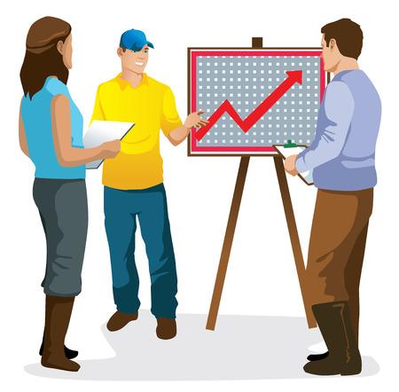 presentation graphics vector illustration of farmers Imagens - 31490235