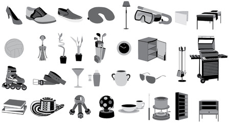 collection set of objects vector isolated Imagens - 31689746