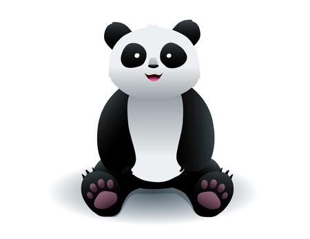panda sit vector isolated illustration Ilustração