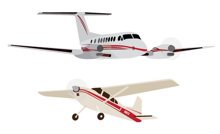 plane Vector illustration of the airplane isolated Imagens - 31689749