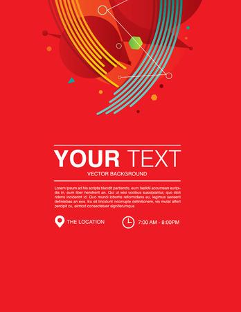 Template design modern background red vector