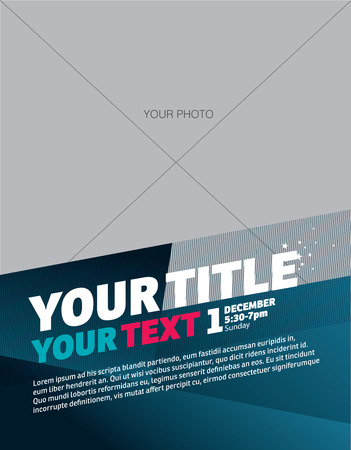 Template design modern background blue vector Imagens - 31822933