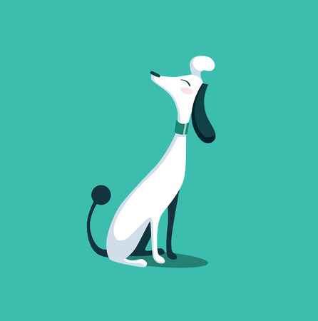 french fancy: dog fancy cartoon illustration isolated