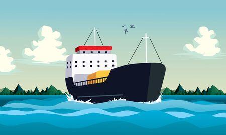 ship shipment charge Иллюстрация