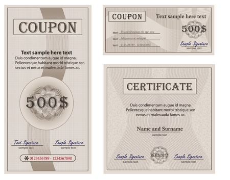 Coupon collection paper Stock Illustratie
