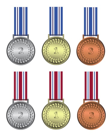 Medal winer gold silver bronze Vector