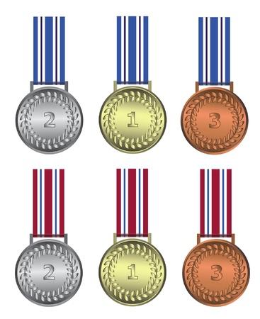 Medal winer gold silver bronze Stock Vector - 9262938