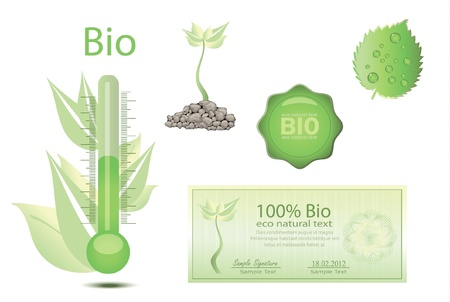 BIO thermometer  coupon Vector