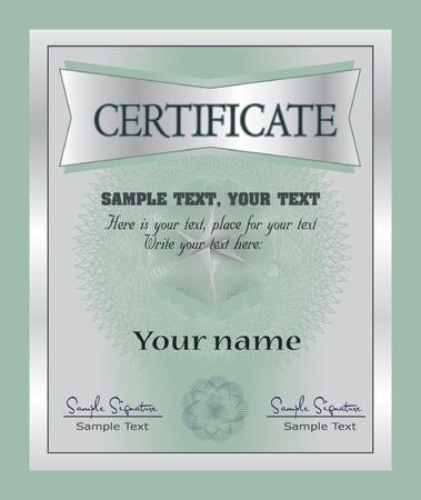 Certificate template, vector  Vector