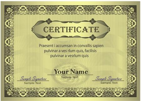 Marco de oro certificado