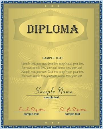Diploma, certificate  Vector