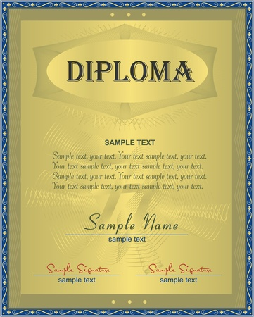 valuation: Diploma, certificate  Illustration