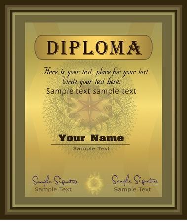 thankful: Vector de oro Vertical del Diploma  Vectores