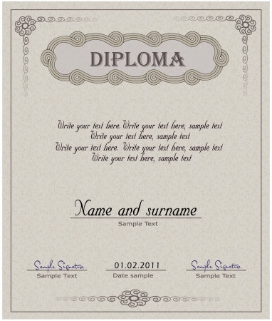 Diploma paper vector  Vector