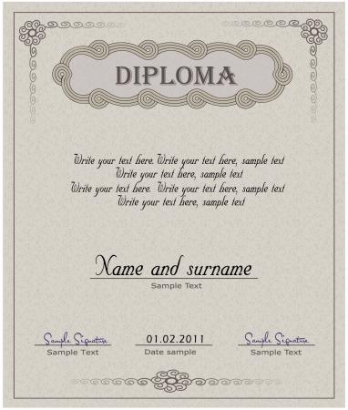 Diploma paper vector  Stock Illustratie