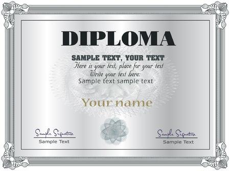Diploma Frame vector template
