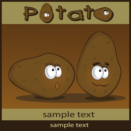 Potato cartoon Stock Vector - 9337327