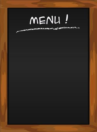 blank chalkboard: Menu blackboard