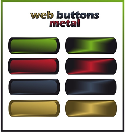 metal net: botones de Web - metal