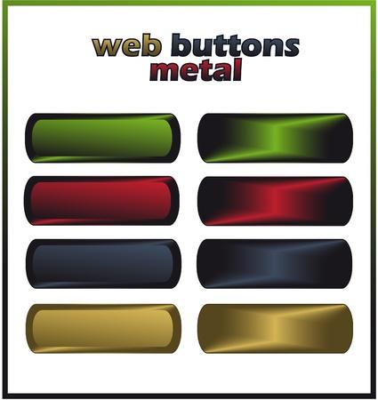 gelatina: botones de Web - metal