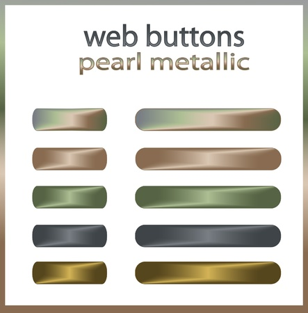 Web buttons Pearl Metal Vector