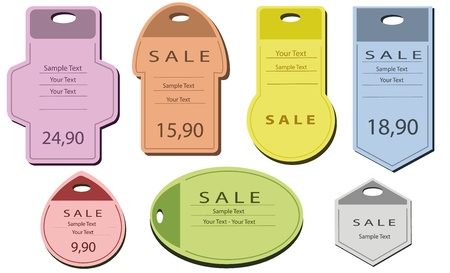 label price tags Stock Vector - 9337326