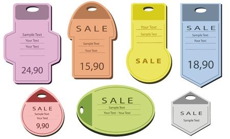 brand tag: label price tags  Illustration