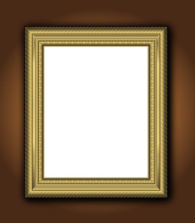 Vector clásico de marco antiguo de antigua imagen vintage barroco oro Foto de archivo - 9931715