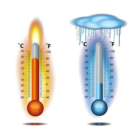 Eis für Thermometer-Feuer Vektorgrafik