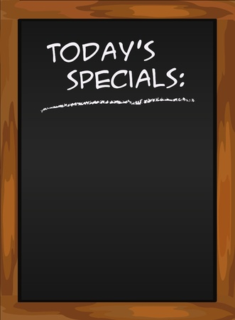 chalky: Menu blackboard green Today Illustration