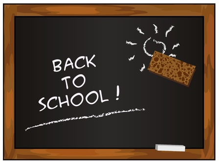 blackboard black back to school chalkboard vector  Stock Vector - 10097806