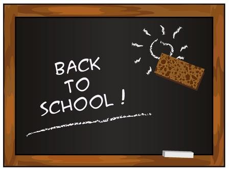 blackboard black back to school chalkboard vector Stock Vector - 10097806