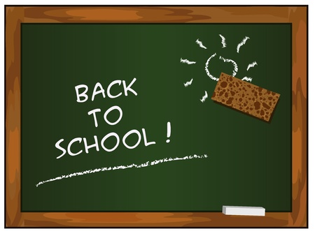 blackboard green back to school chalkboard vector Vector
