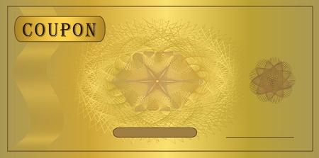 raster Coupon gold template