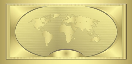 raster Coupon Gold globe  photo