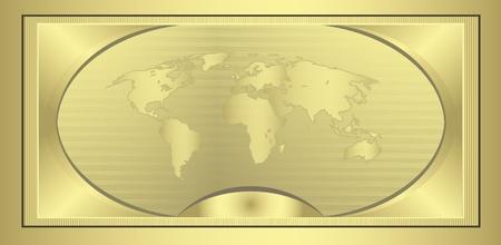 raster Coupon Gold globe Stock Photo - 10222240