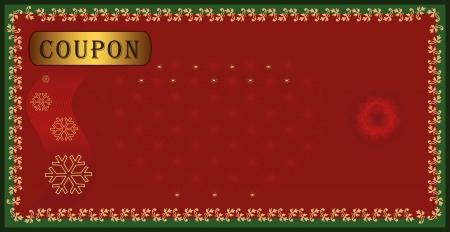 raster Coupon certificate, holiday Merry christmas Stockfoto