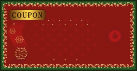 raster Coupon certificate, holiday Merry christmas Stock Photo - 10222239