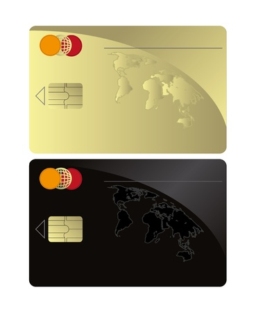 raster Credit card Black Gold template  photo