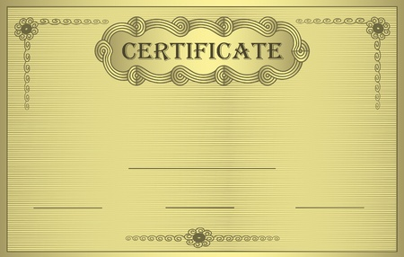 raster Certificate gold ornament  photo