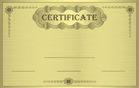 raster Certificate gold ornament  photo