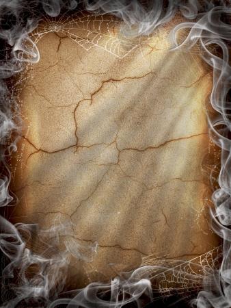 жуткий: Хэллоуин Темный дым пожар Фото со стока