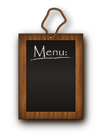 blackboard frame wood menu black Stock Vector - 10280317