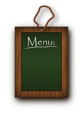 blackboard frame wood menu green Vector