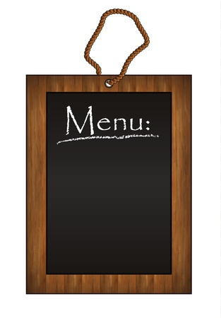menu vintage: raster blackboard frame wood menu black