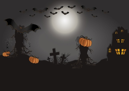 Halloween card horizontal Vector
