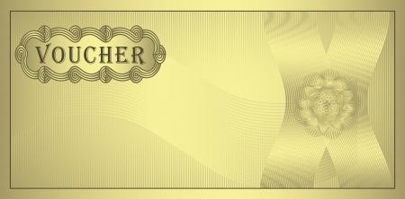 prospectus: raster Voucher gold coupon Stock Photo